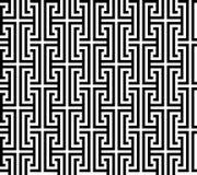 Ligne noire fond sans couture abstrait carré croisé géométrique de modèle de vecteur Photographie stock
