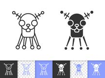 Ligne noire simple icône de chien de robot de vecteur illustration de vecteur