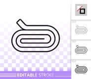 Ligne noire simple icône de petit pain de tissu de vecteur illustration de vecteur