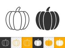 Ligne noire simple icône de thanksgiving de potiron de vecteur illustration libre de droits