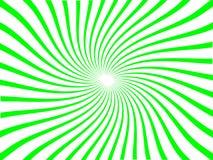 Ligne nova avec le mouvement giratoire (vert) Images libres de droits