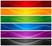 Ligne ondulée colorée drapeaux Photo stock