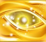 Ligne onduleuse fond d'or abstrait Images libres de droits