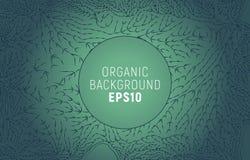 Ligne organique modèle Fond minimal de branche d'arbre Décoration de nature illustration stock
