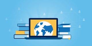 Ligne plate bannière de site Web de conception d'éducation pour tous Photographie stock libre de droits