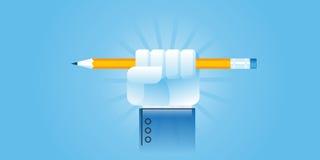 Ligne plate bannière de site Web de conception pour la puissance de l'éducation Photo libre de droits