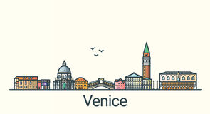 Ligne plate bannière de Venise Images stock