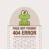 Ligne plate concept d'icône d'icône non trouvée de page ou de dossier de 404 erreurs Visage mignon de dessin animé Image libre de droits