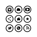 Ligne plate conceptions d'appareil photo numérique, comme le symbole de main, pouces  illustration libre de droits