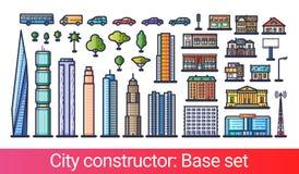 Ligne plate de constructeur de ville Image libre de droits