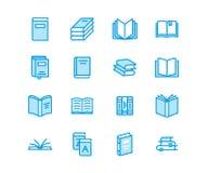 Ligne plate icônes de livres Lecture, bibliothèque, illustrations d'éducation de littérature Signes minces pour le magasin d'eBoo illustration stock