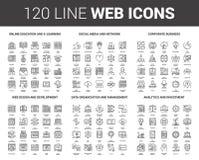 Ligne plate icônes de Web illustration libre de droits