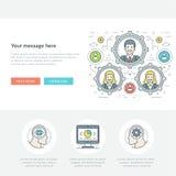 Ligne plate illustration de vecteur d'en-tête de site Web de concept d'affaires Photos libres de droits