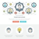 Ligne plate illustration de vecteur d'en-tête de site Web de concept d'affaires Photo stock
