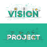 Ligne plate vision et projet de conception de bannière de concept Photo libre de droits