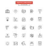 Ligne plate web design d'icônes Images libres de droits