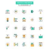 Ligne plate web design d'icônes de couleur Images stock