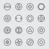 Ligne principale icône de vis Photos stock