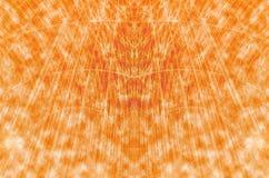 Ligne puissance créative dynamique abstraite orange Image libre de droits