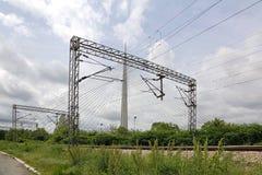 Ligne puissance de train Photographie stock libre de droits