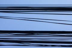 Ligne puissance et TV par câble Image stock