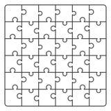 Ligne puzzle de modèle Photographie stock libre de droits