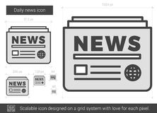 Ligne quotidienne icône d'actualités Photos stock