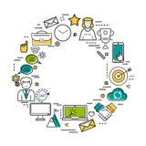 Ligne ronde Art Business Concept Images libres de droits