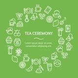 Ligne ronde concept de calibre de conception de cérémonie de thé d'icône Vecteur Photo libre de droits