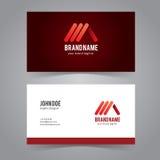 Ligne rouge abstraite Logo Design Template Photographie stock
