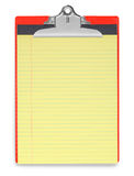 Ligne rouge et jaune papier de presse-papiers photos libres de droits