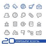 Ligne série de //d'icônes de site Web Photos stock