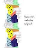 Ligne sans couture colorée abstraite Photographie stock libre de droits