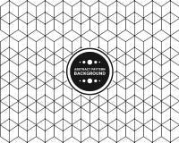 Ligne sans couture fond de polygone Photos libres de droits