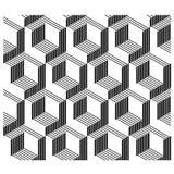 ligne sans couture fond des coins 3D architecturaux Photographie stock libre de droits