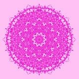 Ligne sans couture ornementale rose modèle Photo libre de droits