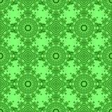 Ligne sans couture ornementale verte modèle Ornement géométrique oriental illustration libre de droits