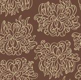Ligne sans joint vecteur avec des fleurs de chrysanthemum Image stock