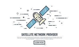 Ligne satellite concepts Photographie stock libre de droits