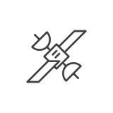 Ligne satellite icône, signe de vecteur d'ensemble illustration stock