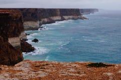 Ligne sauvage de côte du Nullabor Image libre de droits
