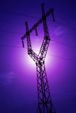 ligne silhouette de pouvoir Image libre de droits