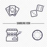Ligne simple de jeu icône Photo libre de droits