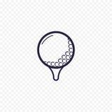 Ligne simple icône de boule de golf Photo stock