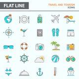 Ligne simple moderne icônes illustration stock
