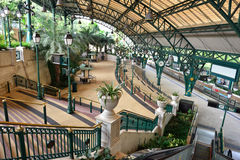 Ligne station, Hong Kong de Disneyland Resort Photos stock
