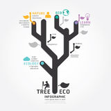 Ligne style de diagramme de conception d'arbre de vecteur d'Infographics illustration stock