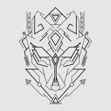 Ligne style de masque de Kitsune photo stock