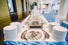 ligne table de buffet Image stock