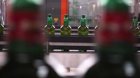 Ligne technologique pour la mise en bouteilles de la bière dans la brasserie. - stage7 banque de vidéos